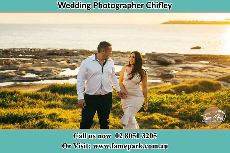 Photo of the Groom and the Bride walking near the river Chifley NSW 2036
