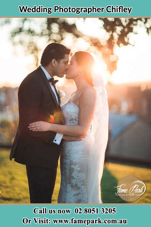 Photo of the Groom and the Bride kissing Chifley NSW 2036