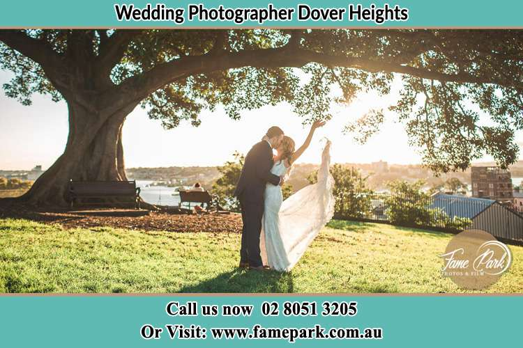 Photo of the Groom and the Bride kissing under the tree Dover Heights NSW 2030