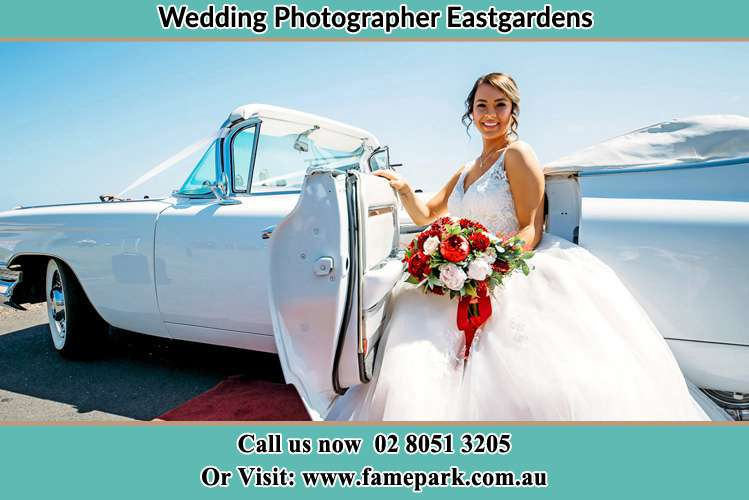 Photo of the Bride went out from the bridal car Eastgardens NSW 2036