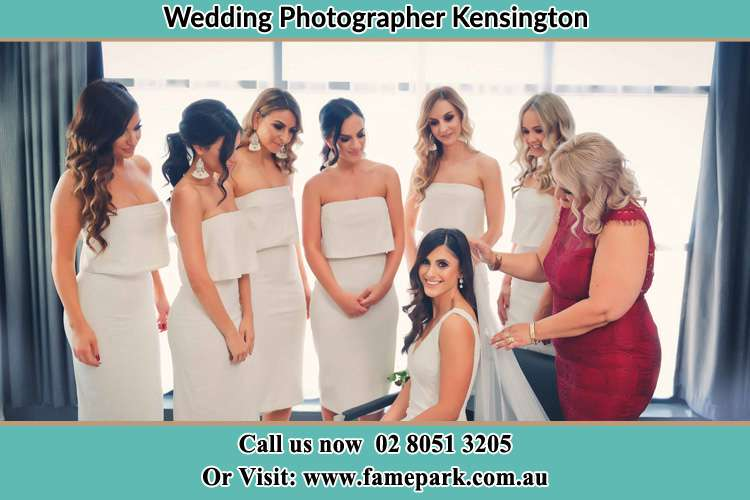 Photo of the Bride with the bridesmaid Kensington NSW 2033