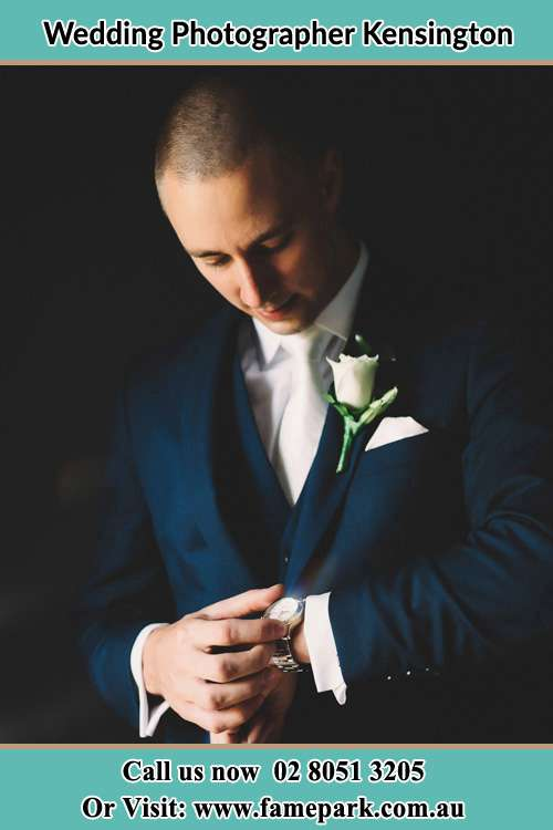 Photo of the Groom checking the time Kensington NSW 2033