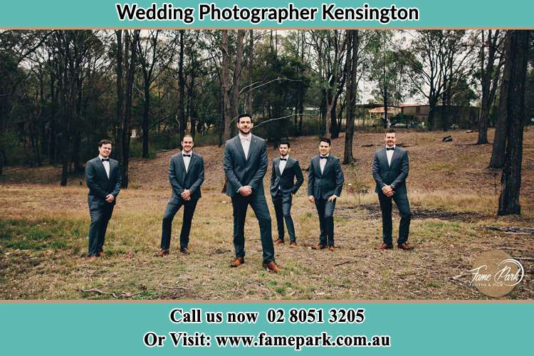 Photo of the Groom and the groomsmen Kensington NSW 2033
