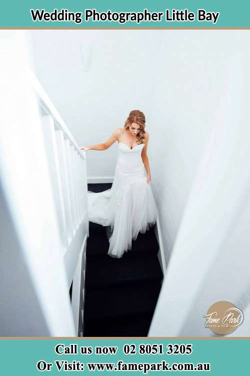Photo of the Bride going down the stair Little Bay NSW 2036