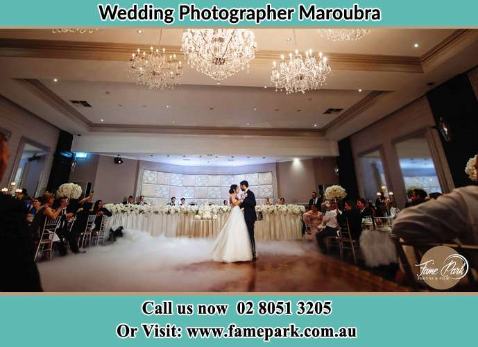 Photo of the Bride and the Groom dancing at the dance floor Maroubra NSW 2035