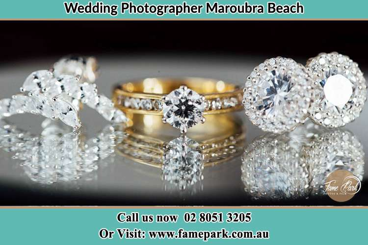 Photo of the Brides cliff, ring and earrings Maroubra Beach NSW 2035