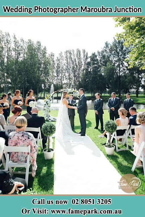 Garden wedding ceremony photo Maroubra Junction NSW 2035