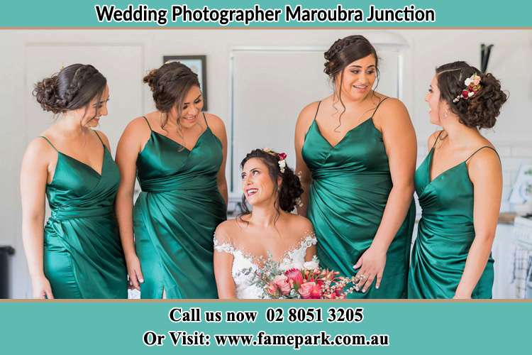 Photo of the Bride with the bridesmaids Maroubra Junction NSW 2035