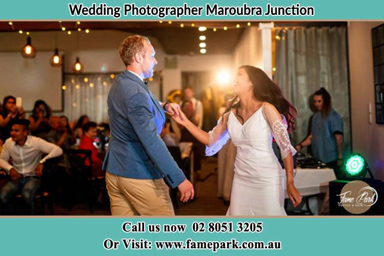 Photo of the Groom and the Bride dancing Maroubra Junction NSW 2035
