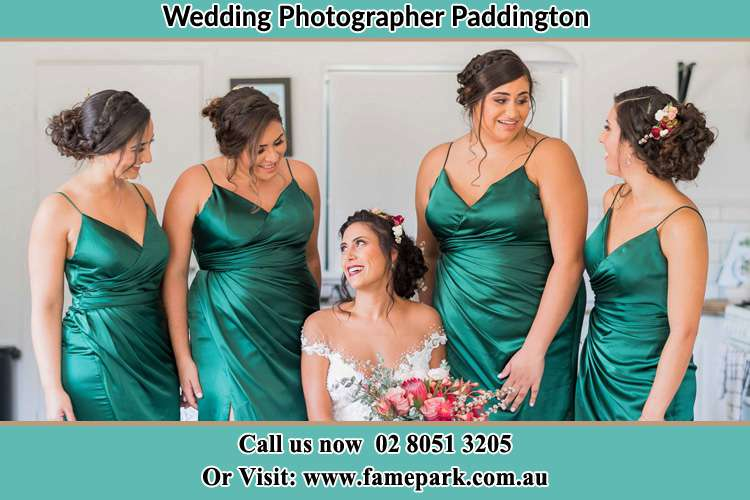 Photo of the Bride and the bridesmaids Paddington NSW 2021