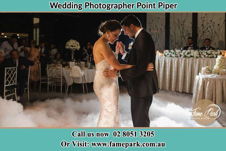 Photo of the Bride and the Groom dancing Point Piper NSW 2027