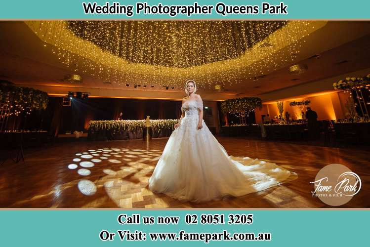 Photo of the Bride at the dance floor Queens Park NSW 2022