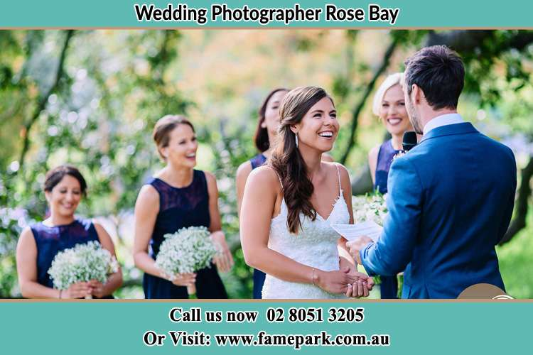 Photo of the Groom testifying his love to the Bride Rose Bay NSW 2029