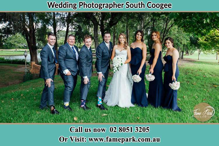 Photo of the Groom and the Bride with the entourage South Coogee NSW 2034
