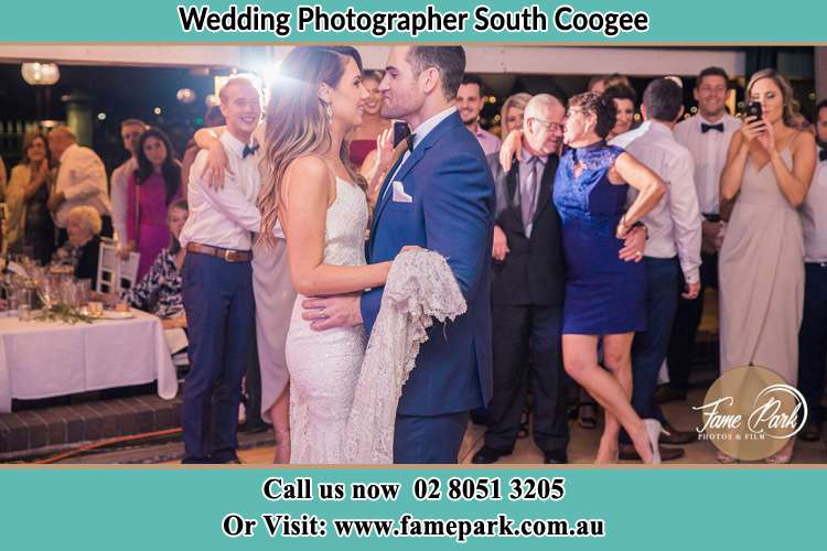 Photo of the Bride and the Groom dancing South Coogee NSW 2034