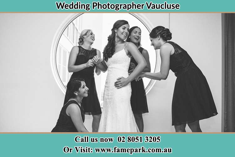Photo of the Bride and the bridesmaids near the window Vaucluse NSW 2030
