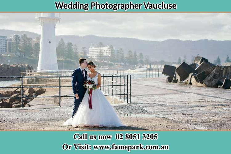 Photo of the Bride and Groom at the Watch Tower Vaucluse NSW 2030
