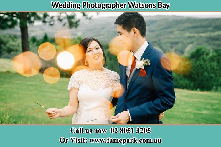 Photo of the Bride and the Groom at the yard Watsons Bay NSW 2030