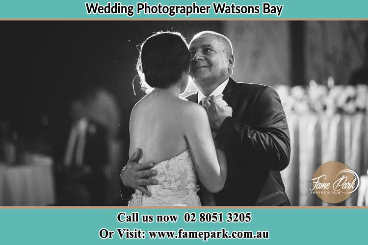 Photo of the Bride dancing with her father Watsons Bay NSW 2030