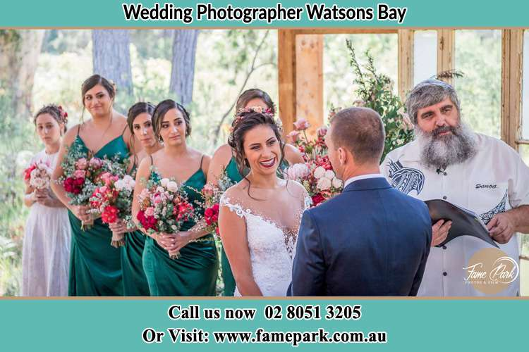 Photo of the Bride and the Groom at the matrimony Watsons Bay NSW 2030