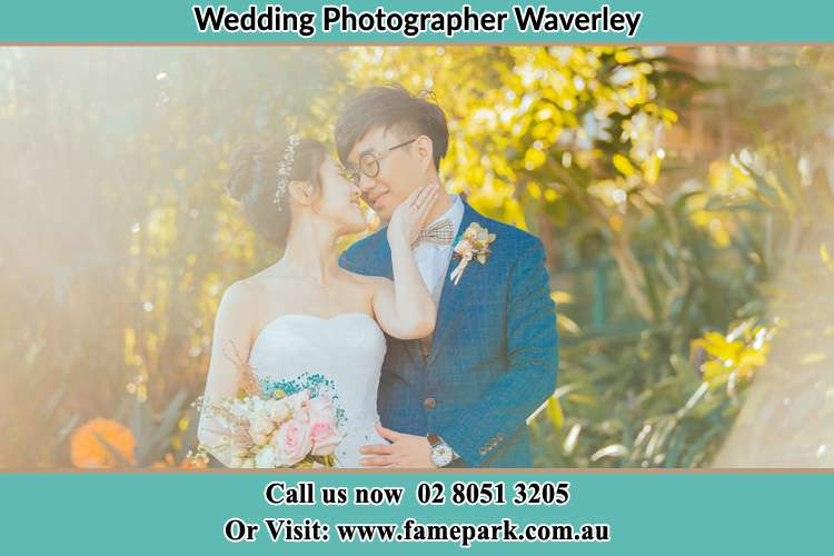Photo of the Bride and the Groom going to kiss Waverley NSW 2024
