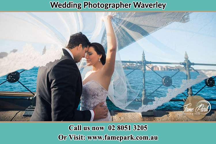 Photo of the Groom and the Bride kissing Waverley NSW 2024