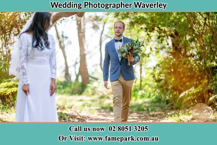 The Groom bringing flower to the Bride Waverley NSW 2024